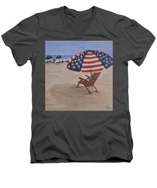Patriotic Umbrella Men's V-Neck T-Shirt