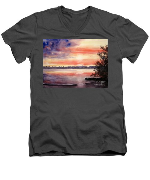 Patriotic Windjammer Sky Men's V-Neck T-Shirt