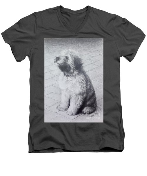 Patsy's Puppy Men's V-Neck T-Shirt