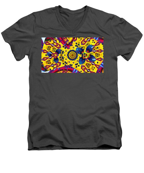 Pattern 2 Intersect Men's V-Neck T-Shirt by Ron Bissett