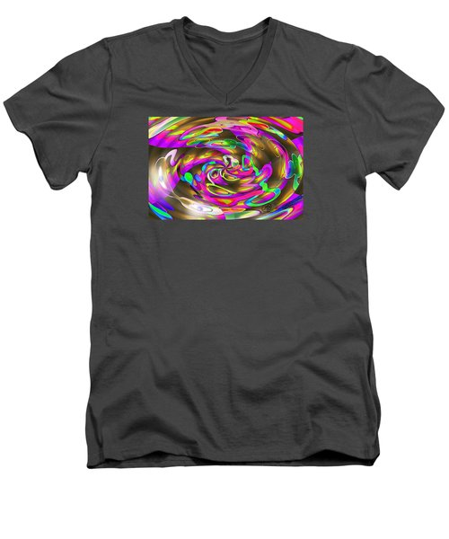 Pattern 269 _ Wired Men's V-Neck T-Shirt