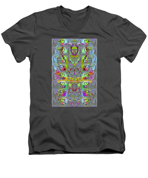 Pattern 296 _ Start From Zeros Men's V-Neck T-Shirt