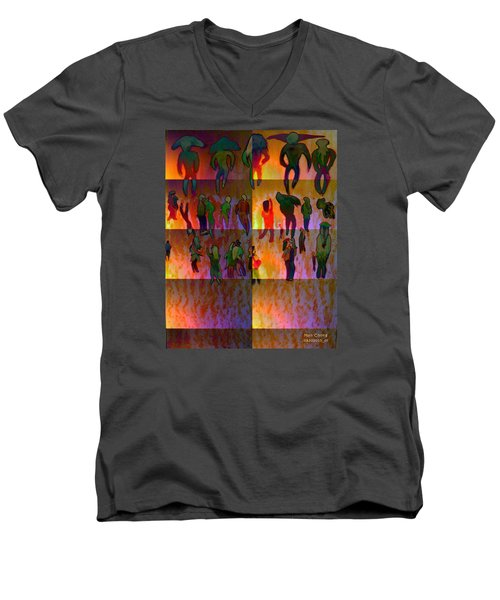 Pattern 324 _ People Men's V-Neck T-Shirt