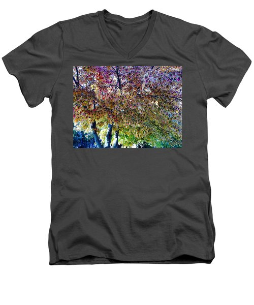 Patterned Metamorphosis Men's V-Neck T-Shirt