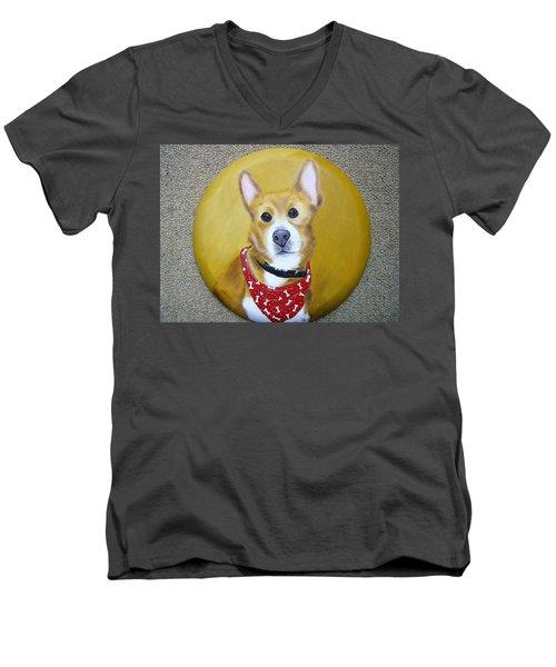 Patti's Grand-dog Men's V-Neck T-Shirt