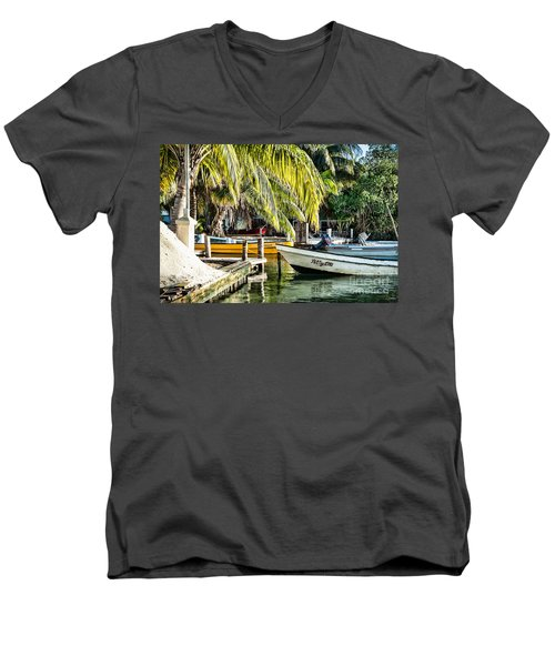 Men's V-Neck T-Shirt featuring the photograph Patty Lou by Lawrence Burry