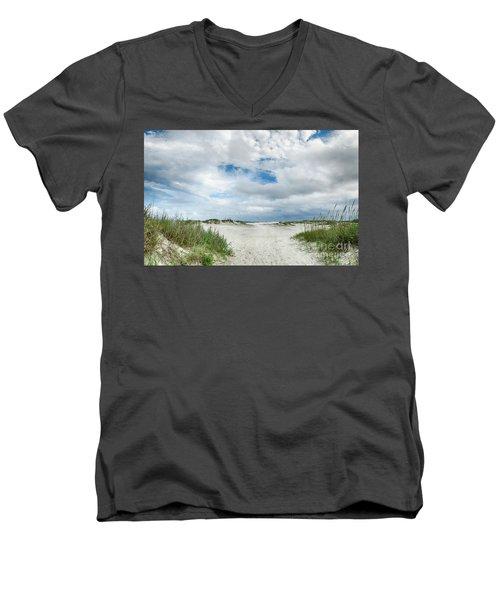 Pawleys Island  Men's V-Neck T-Shirt by Kathy Baccari