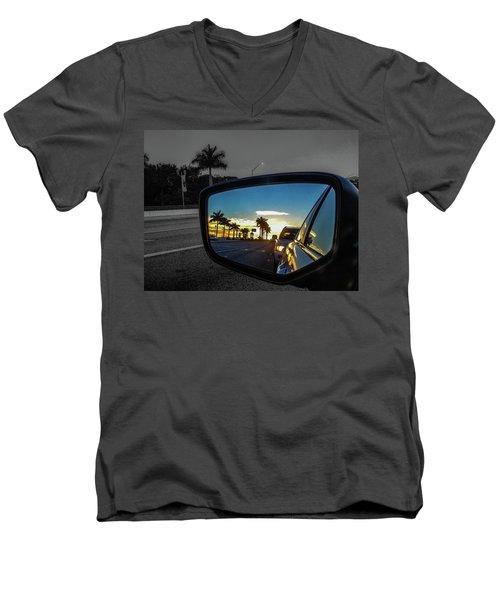 Pb Drive Men's V-Neck T-Shirt by Josy Cue