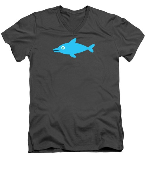 Pbs Kids Dolphin Men's V-Neck T-Shirt by Pbs Kids