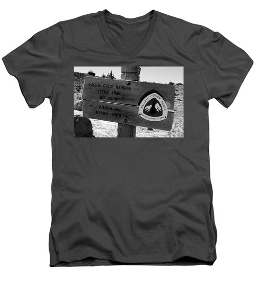 Pct Scenic Trail Men's V-Neck T-Shirt by David Lee Thompson