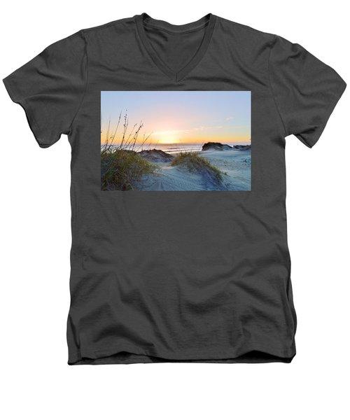 Pea Island Sunrise 12/28/16 Men's V-Neck T-Shirt
