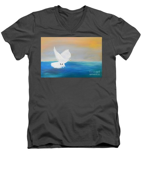 Peace Descending Men's V-Neck T-Shirt