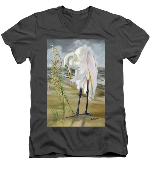Peace In The Midst Of The Storm Men's V-Neck T-Shirt by Phyllis Beiser