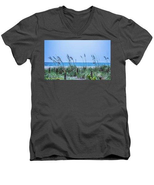 Peace Men's V-Neck T-Shirt by Nance Larson