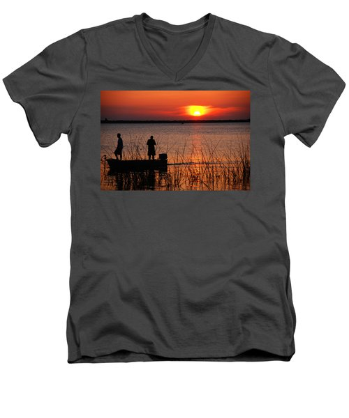 Peace Over The Water Men's V-Neck T-Shirt