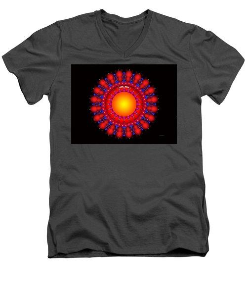Men's V-Neck T-Shirt featuring the digital art Peace by Robert Orinski