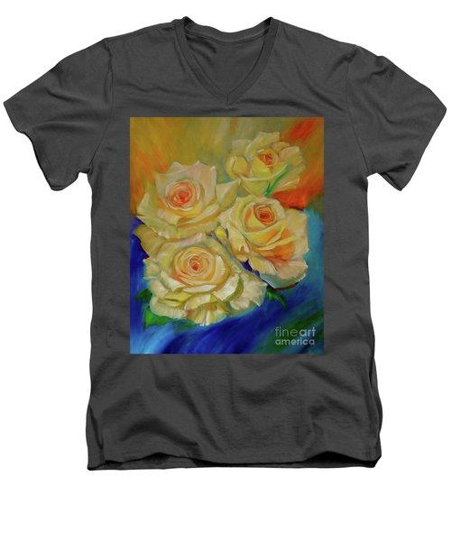Peace Roses Men's V-Neck T-Shirt