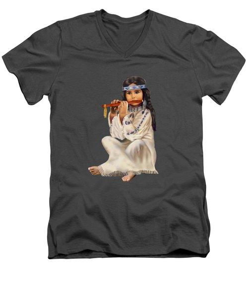 Peace With Harmony Men's V-Neck T-Shirt