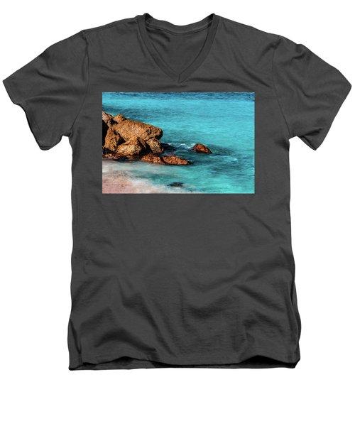 Peaceful Beach Men's V-Neck T-Shirt