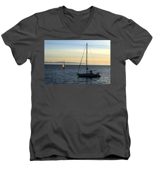 Peaceful Day In Santa Barbara Men's V-Neck T-Shirt