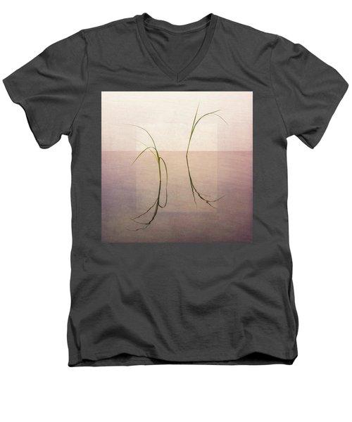 Men's V-Neck T-Shirt featuring the photograph Peaceful Evening by Ari Salmela