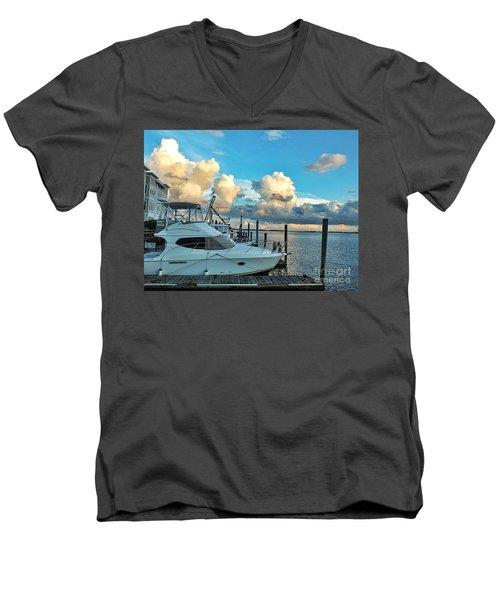 Peaceful Evening Walk  Men's V-Neck T-Shirt by Christy Ricafrente