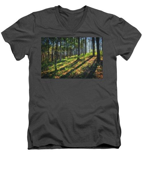 Peaceful Forest 4 - Spring At Retzer Nature Center Men's V-Neck T-Shirt by Jennifer Rondinelli Reilly - Fine Art Photography