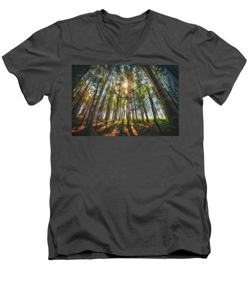 Peaceful Forest 5 - Spring At Retzer Nature Center Men's V-Neck T-Shirt by Jennifer Rondinelli Reilly - Fine Art Photography