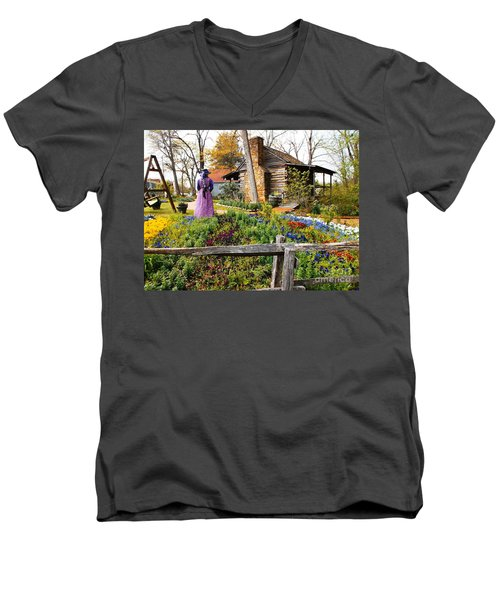 Peaceful Garden Walk Men's V-Neck T-Shirt