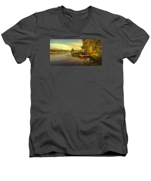 Men's V-Neck T-Shirt featuring the photograph Peaceful Morning by Rose-Maries Pictures