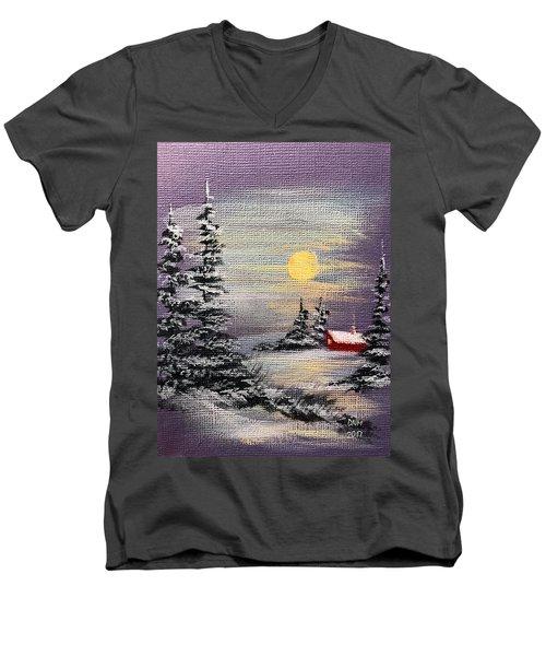 Peaceful Night Men's V-Neck T-Shirt