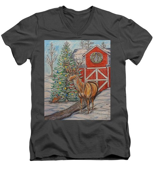 Peaceful Noel Men's V-Neck T-Shirt