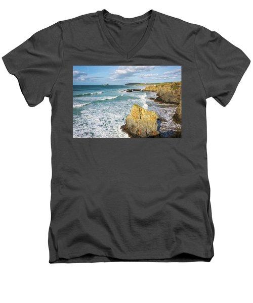 Peaceful Waves Men's V-Neck T-Shirt