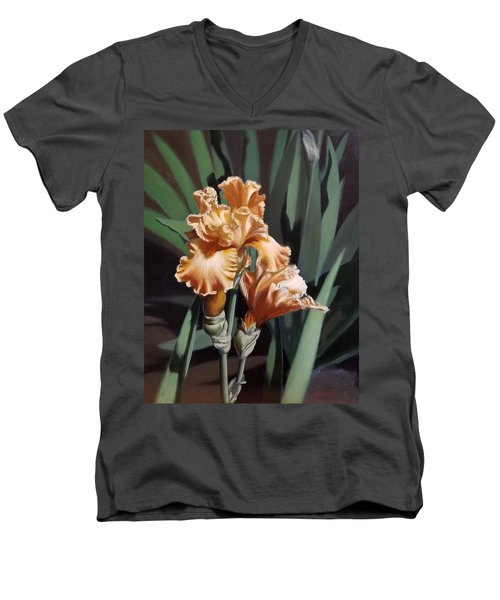 Peach Iris Men's V-Neck T-Shirt