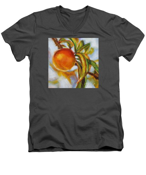 Peach Men's V-Neck T-Shirt by Tracy Male