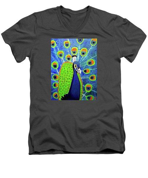 Peacock #3 Men's V-Neck T-Shirt