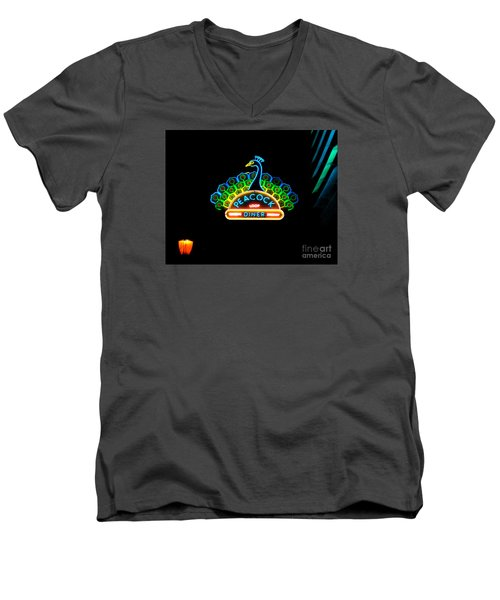 Peacock Diner In The Loop Men's V-Neck T-Shirt