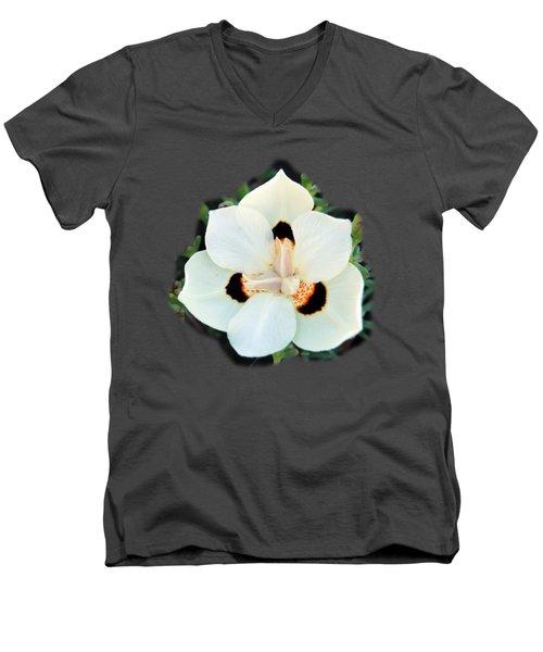Peacock Flower T-shirt Men's V-Neck T-Shirt