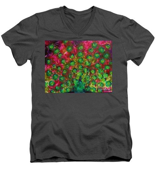 Peacock Impressions Men's V-Neck T-Shirt