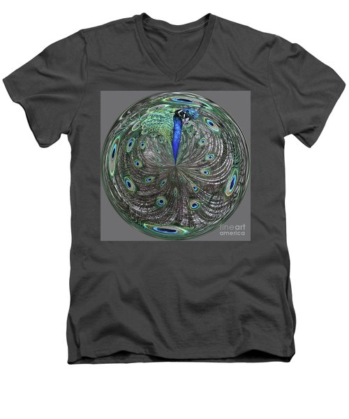 Peacock Swirl #2 Men's V-Neck T-Shirt