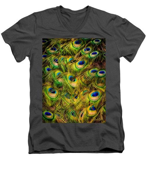 Peacock Tails Men's V-Neck T-Shirt