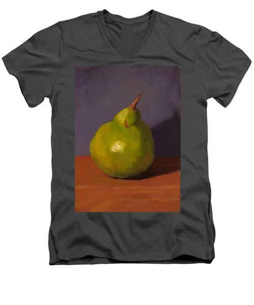 Pear With Gray Men's V-Neck T-Shirt