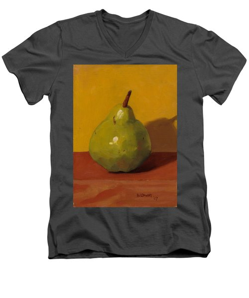 Pear With Yellow Men's V-Neck T-Shirt