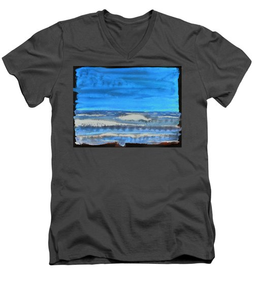 Peau De Mer Men's V-Neck T-Shirt by Marc Philippe Joly