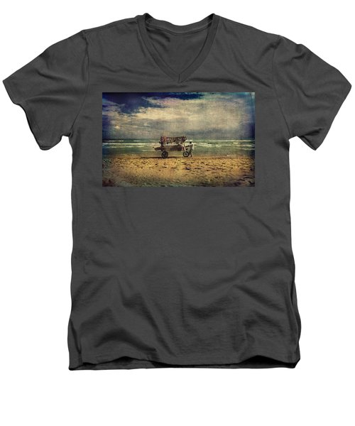 Peddler Men's V-Neck T-Shirt by Vittorio Chiampan