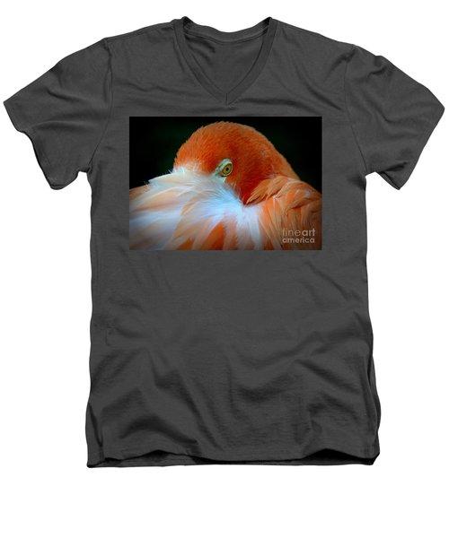 Men's V-Neck T-Shirt featuring the photograph Peek-a-boo by Lisa L Silva