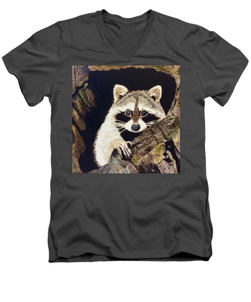 Peeking Out Men's V-Neck T-Shirt