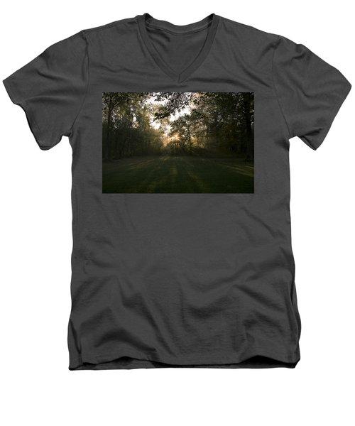 Men's V-Neck T-Shirt featuring the photograph Peeking Through by Annette Berglund