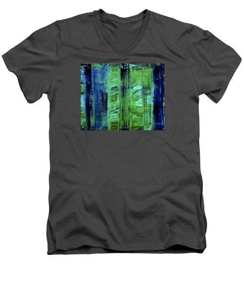 Peeking Through The Blinds Men's V-Neck T-Shirt