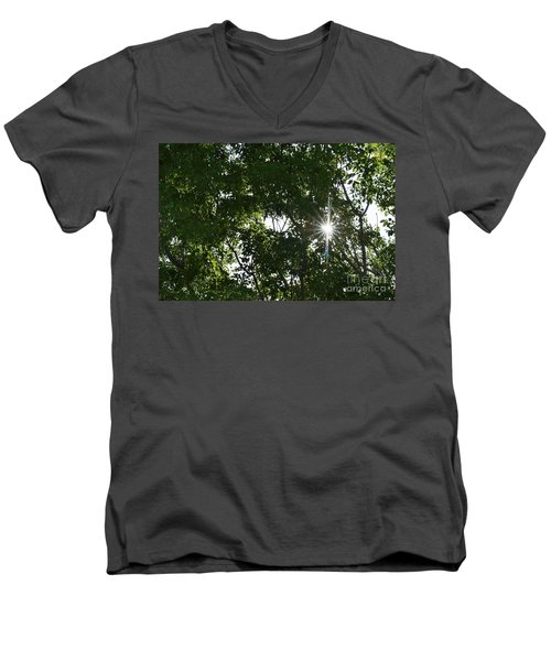 Peeking Through Men's V-Neck T-Shirt